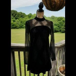 BCBGenerations stretchy velvet feel mini dress